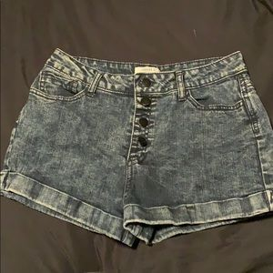 Forever 21 high waisted button up shorts
